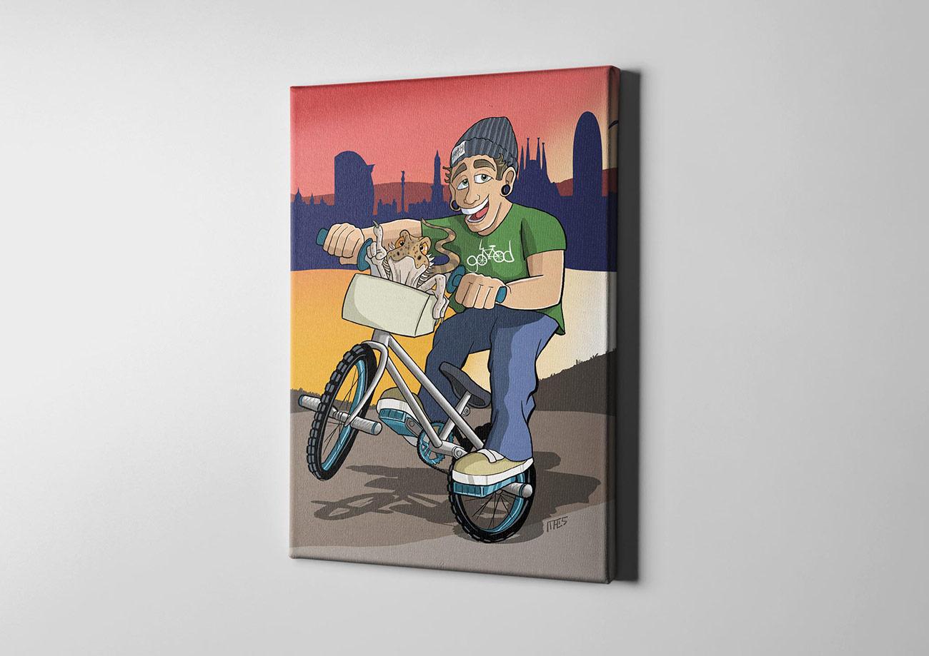 individualisierte portr tzeichung im comic stil auf leinwand kreativfabrik onlineshop. Black Bedroom Furniture Sets. Home Design Ideas